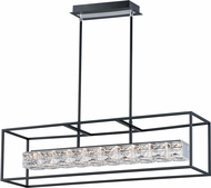 ET2 E23304-20BK Zephyr Contemporary Black LED Island Lighting