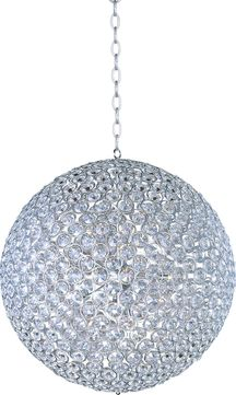 ET2 E24018-20PC Brilliant Polished Chrome Xenon 36  Hanging Pendant Light