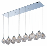 ET2 E24029-20PC Brilliant 47 Inch Wide Crystal Polished Chrome Finish Multi Pendant Light - 14 Lamps