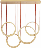 ET2 E24084-NAB Tether Contemporary Natural Aged Brass LED Multi Pendant Hanging Light