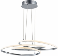 ET2 E24132-PC Coaster Contemporary Polished Chrome LED Drop Lighting Fixture