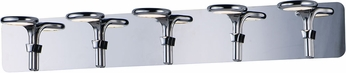 ET2 E24145-PC Cobra Contemporary Polished Chrome LED 5-Light Bath Light Fixture