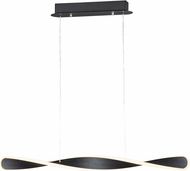 ET2 E24155-BK Pirouette Modern Black LED Kitchen Island Light