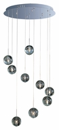 ET2 E24254-91PC Orb Contemporary 21 Inch Diameter 9 Lamp Bubble Glass Multi Ceiling Light Pendant