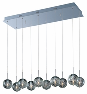 ET2 E24256-91PC Orb 10 Lamp Polished Chrome 33 Inch Wide Bubble Glass Multi Pendant