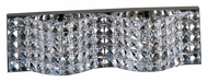 ET2 E24276-20PC Wave Small Crystal 18 Inch Wide Polished Chrome Bathroom Lighting