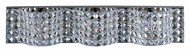 ET2 E24277-20PC Wave 26 Inch Wide Polished Chrome Medium Crystal Bath Lighting - 3 Lamps