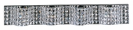 ET2 E24278-20PC Wave 4 Lamp Polished Chrome 34 Inch Wide Crystal Bathroom Lighting Fixture