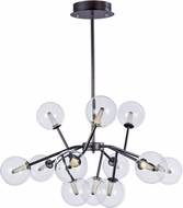 ET2 E24284-24BZ Satellite Contemporary Bronze LED Chandelier Light