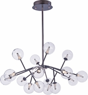 ET2 E24286-24BZ Satellite Contemporary Bronze LED Lighting Chandelier