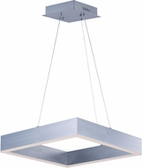 ET2 E24295-AL Metallika Contemporary Brushed Aluminum LED 16.5  Drop Ceiling Lighting