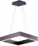 ET2 E24295-COF Metallika Modern Coffee LED 16.5  Ceiling Light Pendant