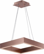 ET2 E24295-SC Metallika Contemporary Satin Copper LED 16.5  Ceiling Pendant Light