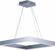 ET2 E24296-AL Metallika Modern Brushed Aluminum LED 24.5  Drop Ceiling Light Fixture