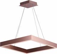 ET2 E24296-SC Metallika Modern Satin Copper LED 24.5  Pendant Lighting