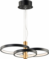 ET2 E24326-BKGLD Hoopla Modern Black / Gold LED Drop Ceiling Lighting