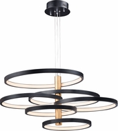 ET2 E24327-BKGLD Hoopla Contemporary Black / Gold LED Ceiling Light Pendant