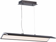 ET2 E24333-BKPC Glider Modern Black / Polished Chrome LED 35  Kitchen Island Light