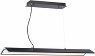 ET2 E24334-BKPC Glider Contemporary Black / Polished Chrome LED 44.5  Island Light Fixture