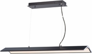 ET2 E24334-BKPC Glider Contemporary Black and Polished Chrome LED 45  Kitchen Island Lighting