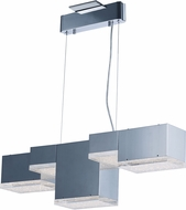 ET2 E24465-160PC Pizzazz Contemporary Polished Chrome LED Kitchen Island Light