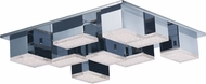ET2 E24468-160PC Pizzazz Contemporary Polished Chrome LED Ceiling Light Fixture