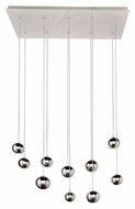 ET2 E24487-PC Polaris Modern Polished Chrome Finish 33.75  Wide LED Multi Pendant Lamp