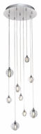 ET2 E24506-91PC Harmony Modern Polished Chrome Finish 12.75  Wide LED Multi Pendant Lighting Fixture