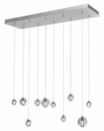 ET2 E24507-91PC Harmony Contemporary Polished Chrome Finish 33.75  Wide LED Multi Drop Ceiling Light Fixture