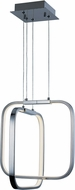 ET2 E24552-PC Squared Modern Polished Chrome LED Multi Pendant Lighting Fixture