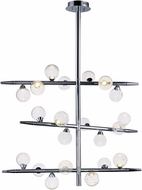 ET2 E24573-91PC Bubbly Modern Polished Chrome LED Chandelier Light
