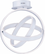 ET2 E24580-MW Gyro Modern Matte White LED Overhead Lighting
