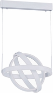 ET2 E24582-MW Gyro Contemporary Matte White LED Hanging Lamp