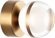 ET2 E24590-93NAB Swank Contemporary Natural Aged Brass LED Wall Sconce Lighting