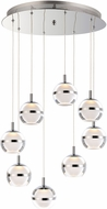 ET2 E24598-93PC Swank Modern Polished Chrome LED Multi Pendant Lighting