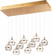 ET2 E24599-93NAB Swank Contemporary Natural Aged Brass LED Multi Lighting Pendant