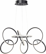 ET2 E24725-BKPC Ringer Modern Black and Polished Chrome LED Hanging Lamp