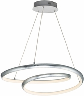 ET2 E24735-SL Clover Contemporary Silver Leaf LED Lighting Pendant