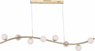 ET2 E24765-11MG Rover Modern Metallic Gold LED Kitchen Island Light Fixture
