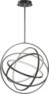 ET2 E24785-BK Gyro II Modern Black LED 32  Hanging Pendant Light