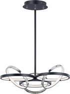 ET2 E24787-BKPC Gyro II Modern Black and Polished Chrome LED Hanging Light Fixture