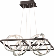 ET2 E24789-BKPC Gyro II Contemporary Black / Polished Chrome LED Pendant Lamp