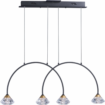 ET2 E24804-75BKMG Hope Modern Black / Metallic Gold LED Island Lighting