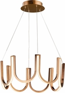 ET2 E24853-BCN You Contemporary Brushed Champagne LED 26  Ceiling Light Pendant