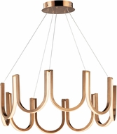 ET2 E24854-BCN You Modern Brushed Champagne LED 32  Ceiling Pendant Light