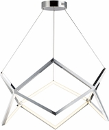 ET2 E24862-PC Victory Contemporary Polished Chrome LED Drop Ceiling Light Fixture