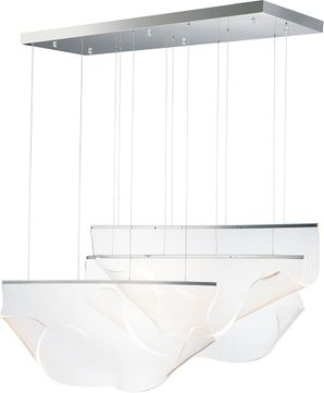 ET2 E24873-133PC Rinkle Modern Polished Chrome LED Multi Ceiling Light Pendant