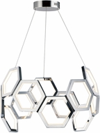 ET2 E24893-PC Polygon Contemporary Polished Chrome LED Pendant Light
