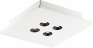 ET2 E25012-WT Peg Contemporary White LED Ceiling Light Fixture