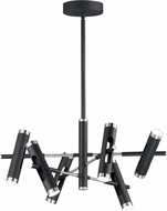 ET2 E25046-BKSN Ambit Contemporary Black / Satin Nickel LED Chandelier Lighting